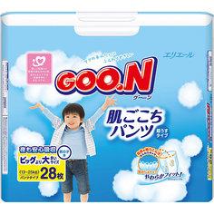 Подгузники-трусики Goon, XXL 13-25 кг, для мальчиков, 28 шт.