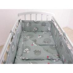Детское постельное белье 3 предмета Фея, Наши друзья, серый