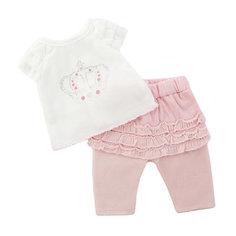 """Одеждя для куклы Mary Poppins """"Футболка и штанишки"""", 38-43 см (розовый)"""