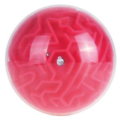 Головоломка шар-лабиринт (красный)