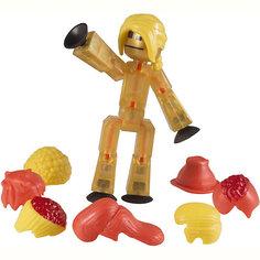 Фигурка с аксессуарами Прически, Stikbot, желтые Zing