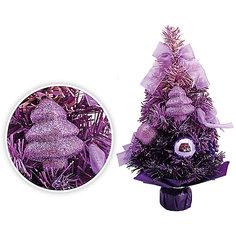Сиреневая елка с украшениеями, 30 см Tukzar