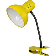 Настольный светильник Прищепка 40Вт ЛН, Ultra Light, желтый