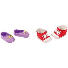 Ботиночки, 2 пары (для куклы), BABY born, красные-фиолетовые Zapf Creation