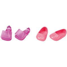 Ботиночки, 2 пары (для куклы), BABY born, розовые-фиолетовые Zapf Creation