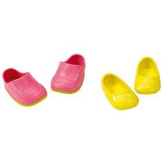 Ботиночки, 2 пары (для куклы), BABY born, желтые-розовые Zapf Creation