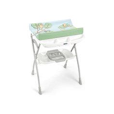 Пеленальный столик Volare, CAM, c совами и белой полкой