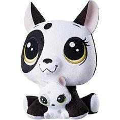 """Мягкая игрушка Littlest Pet Shop """"Плюшевые парочки"""" Bullena Doghouser & Scamper Doghouser, 16 см Hasbro"""