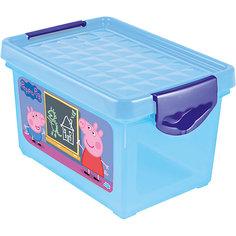 """Ящик для хранения мелочей """"Свинка Пеппа"""" 5,1л, Little Angel, голубой"""