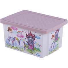 """Детский ящик для хранения игрушек """"X-BOX"""" """"Сказочная Принцесса"""", 17л Little Angel"""