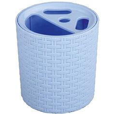 """Подставка """"Плетёнка"""" для зубных щёток , Alternativa, голубой"""
