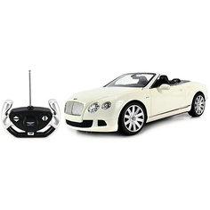 """Радиоуправляемая машинка Rastar """"Bentley Continetal GT """", 1:12, белая"""