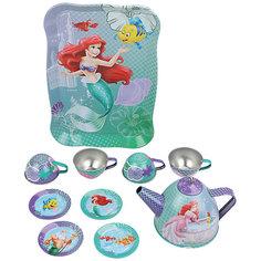 """Набор чайной посуды """"Ариэль"""" (11 предм., металл., в чемоданчике), Принцессы Дисней Disney"""