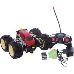 Радиоуправляемая машинка трюковая, черно-красная, ZC Blue Sea