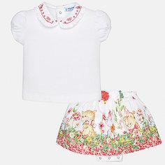 Комплект: Футболка,юбка Mayoral для девочки