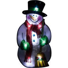 Световое панно «Снеговик в шарфе» (10 ламп, 25х13,5 см), Волшебная страна