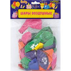 """Воздушные шары ACTION! """"С Днем Рождения!""""  с рисунком  30см, 50шт"""