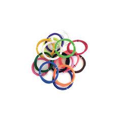 """Набор ABS пластика """"3D Фантазер"""", 1,75 мм, 16 цветов по 5 метров."""