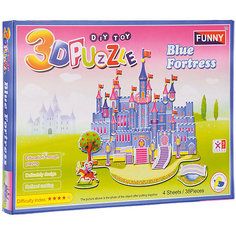 "3D пазлы Funny ""Голубой замок"", 38 деталей"