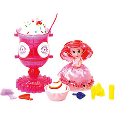 Игровой набор Cupcake Sunrise «Мороженое-туалетный столик с куклой-капкейк» Emco