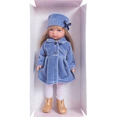 """Классическая кукла Vestida de Azul """"Снегурочка"""" Карлотта блондинка с челкой, 28 см"""
