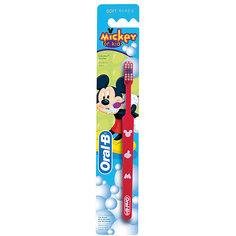Детская зубная щетка Oral-B Mickey for Kids от 3 лет, красная