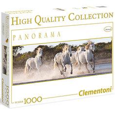 """Панорманый пазл Clementoni """"Белые лошади"""", 1000 элементов"""