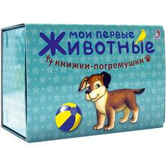 """Книжка-погремушка """"Мои первые животные"""", Гагарина М. Робинс"""