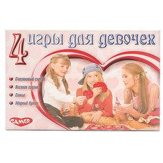 """Детская настольная игра Dream Makers """"4 игры для девочек"""""""