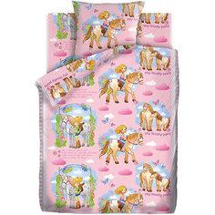 Детское постельное белье 1,5 сп. Кошки-Мышки (70х70см) Девочка и Лошадка
