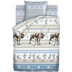 Комплект постельного белья1.5бязь Холодноесердце(70х70)Олаф Непоседа