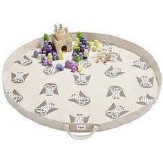 Игровой коврик-сумка 3 Sprouts Белая сова (White Owl SPR1305). Арт. 00054