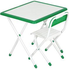 Набор детской складной мебели, Дэми, бело-зеленый