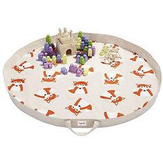 Игровой коврик-сумка 3 Sprouts Оранжевая лисичка (Orange Fox SPR1304). Арт. 00053