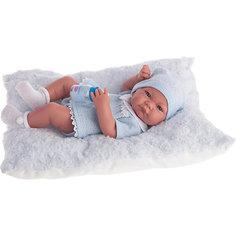 Кукла-младенец Нико (мальчик) в голубом, 42 см, Munecas Antonio Juan