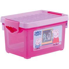 """Ящик для хранения игрушек Little Angel """"Свинка Пеппа"""", 5,1 л. (розовый)"""