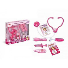 """Игровой набор Zhorya """"Любимый доктор"""", 7 предметов, розовый (свет, звук)"""