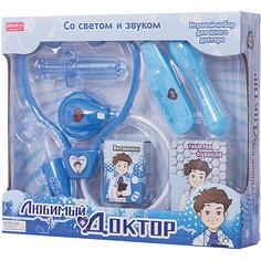 """Игровой набор Zhorya """"Любимый доктор"""" 7 предметов, с витаминами, (свет, звук)"""