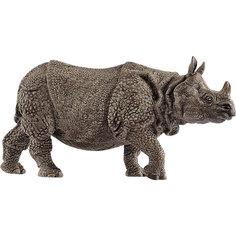 """Коллекционная фигурка Schleich """"Дикие животные"""" Индийский носорог"""