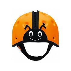 "Мягкая шапка-шлем для защиты головы SafeheadBABY ""Божья коровка"", оранжевая"