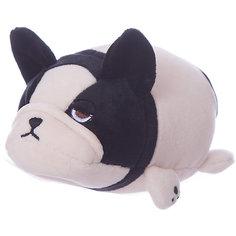 Мягкая игрушка ABtoys Собачка розовая с черным, 13 см