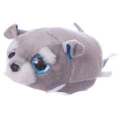 Мягкая игрушка Teddy Собачка серая, 10 см