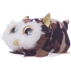 Мягкая игрушка Teddy Совенок коричневый,10 см