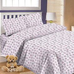 Детское постельное белье 3 предмета Letto, простыня на резинке, BGR-66