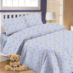 Детское постельное белье 3 предмета Letto, простыня на резинке, BGR-64