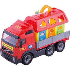 """Машинка с сортером Полесье """"Volvo"""", в коробке"""