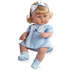 Кукла-блондинка, в голубом платье с бантом, 33см, Arias