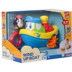 """Заводная игрушка для ванны HAP-P-KID """"Кораблик"""" - Пингвин"""