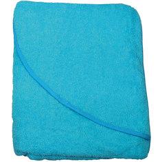 Махровое полотенце с уголком Baby Swimmer 100х100, бирюзовое