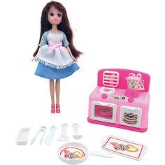 """Игровой набор """"Кукла, плита, кухонные принадлежности"""", Krutti"""